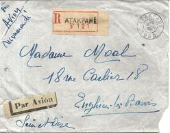 LETTRE PAR AVION REC DE ATAKPAME POUR FRANCE . ENGHIEN - Togo (1914-1960)