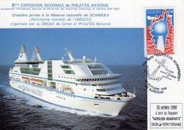 Ajaccio Ferry Napoléon Bonaparte Croisière Scandola 20 10 1996 - Marcophilie (Lettres)