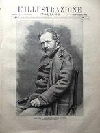 L'Illustrazione Italiana 11 Ottobre 1891 Vela Tomba Vittorio Emanuele Caravaggio - Avant 1900