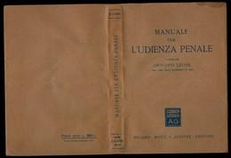 MANUALE PER L'UDIENZA PENALE - Diritto Ed Economia