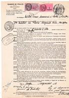 Procuration Fiscalisée TF SU 1 Timbre Humide & Contre-marque Tasset - Steuermarken