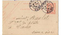 B19  1904 Carte Lettre De Bérinay A Vaux - Storia Postale