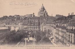 75, Paris 19ème, Panorama Du Square D'Anvers Et Le Sacré Coeur De Montmartre - Arrondissement: 19