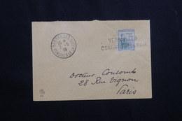 FRANCE - Cachet + Griffe De Versailles Congres De La Paix En 1919 Sur Enveloppe - L 62113 - Storia Postale