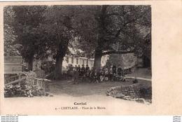 CHEYLADE PLACE DE LA MAIRIE 1909 TBE - Autres Communes