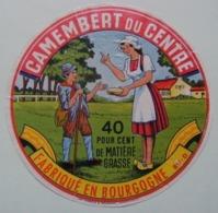 Etiquette Camembert - Le Petit Berger - Fromagerie Anonyme 89-D En Bourgogne - Yonne   A Voir ! - Fromage