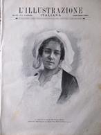 L'Illustrazione Italiana 25 Ottobre 1891 Tina Di Lorenzo Etna Croce Rossa Amicis - Avant 1900