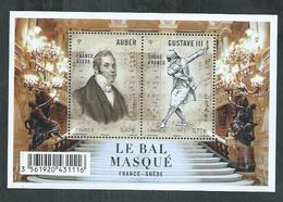 France. Bloc F 4706 ** Opera, Gustave III Ou Le Bal Masqué ; France Suède - Mint/Hinged