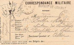 """CP- """"  Correspondance Militaire  """"- 6 Drapeaux -  """" Déposé Au Guichet """"- - Storia Postale"""