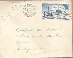 AUSTRALIAN ANTARCTIC TERRITORY 1957 Cover Sent To Suisse 1 Stamp COVER USED - 1966-79 Elizabeth II