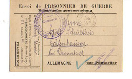 B19  1918 Prisonnier De Guerre Allemand Détenu A Barcelonette Censures +marques - Marcophilie (Lettres)