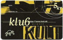 Denmark - Tele Danmark (chip) - Klub Kult - TDP171A - 09.1997, 5.500ex, 5kr, Used - Denemarken