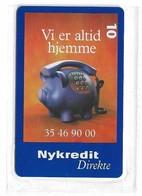 Denmark - Tele Danmark (chip) - Nykredit Direkte - TDP233 - 12.1999, 10.300ex, 10kr, NSB - Denemarken