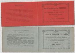 """Société De Pêche """" La Fertoise """"carte D'idendité Année 1929 - 1930 - Vieux Papiers"""