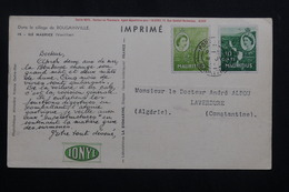 MAURICE - Carte Publicitaire Médicale Ionyl De Port Louis Pour L'Algérie , Affranchissement Plaisant - L 62120 - Maurice (...-1967)