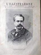 L'Illustrazione Italiana 1 Novembre 1891 Barabino Kinetografo Edison Croce Rossa - Avant 1900