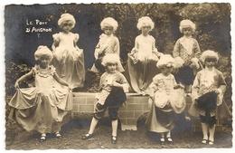 TOURNAI (probablement) 2 Cartes Photos D'enfants Déguisés. J. Messiaen, Rue Royale, 23, Tournai. 1927. - Tournai
