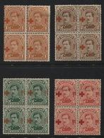 N°150/153 Croix-Rouge En Blocs De 4 (2xx Et 2x). COB 42€ - 1914-1915 Croix-Rouge