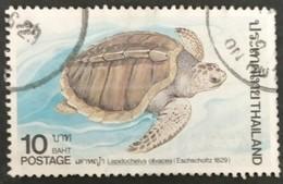 128. THAILAND 1986 USED STAMP TURTLES - Tailandia