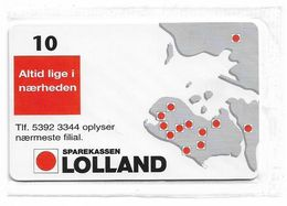 Denmark - Tele Danmark (chip) - Sparekassen Lolland - TDP194 - 12.1998, 1.300ex, 10kr, NSB - Denemarken