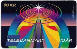 Denmark - Tele Danmark (chip) - Tele Danmark 10 Years - TDP352A (Cn. 0103) - 11.2000, 100.100ex, 50kr, Used - Denemarken