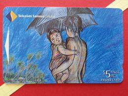 WESTERN SAMOA 5$ Fa'a Samoa Art Competition Vaioleti Uili, Malua GPT 34SMC MINT ? (TS330 - Samoa