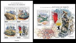 TOGO 2020 - World War 2: Berlin. M/S + S/S. Official Issue. [TG200156] - Seconda Guerra Mondiale