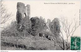 MERLE PRES MAURS RUINES DU CHATEAU DE CHAULE 1910 TBE - Altri Comuni