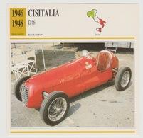 Verzamelkaarten Collectie Atlas: Cisitalia D46 - Voitures