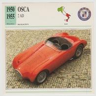Verzamelkaarten Collectie Atlas: OSCA 2 AD - Voitures
