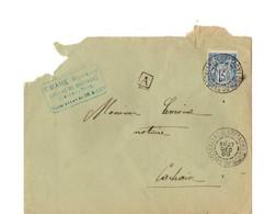 B19  1899 Lettre De Callac De Bretagne Pour Carhaix - Storia Postale