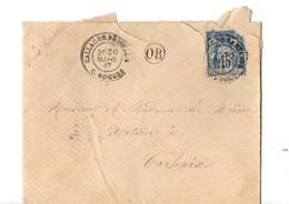 B19  1899 Lettre De Callac De Bretagne Pour Carhaix Cachet OR - Storia Postale