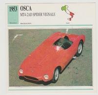 Verzamelkaarten Collectie Atlas: OSCA MT4-2 AD Vignale - Voitures