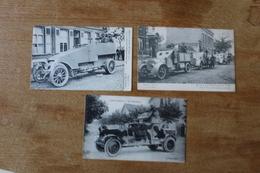 3 CARTES  AUTOMITRAILLEUSES GUERRE 1914 1918 - Guerra 1914-18