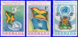 Grenade 1975. ~ YT 585/87** - Admission Aux Nations Unies - Grenada (1974-...)