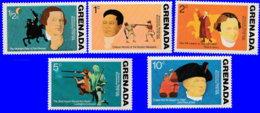 Grenade 1975. ~ YT 591/96** - 200 Ans Indépendance USA - Grenada (1974-...)