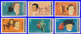 Grenade 1975. ~ YT 591 à 96** - 200 Ans Indépendance USA - Grenada (1974-...)