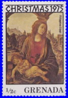 """Grenade 1975. ~ YT 639** - Lippi """"Vierge Et Enfant"""" - Grenada (1974-...)"""