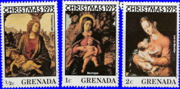 Grenade 1975. ~ YT 639/41** - Noël. Tableaux De Maitres - Grenada (1974-...)