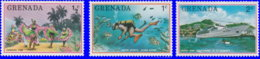 Grenade 1976. ~ YT 653/55** - Tourisme - Grenada (1974-...)
