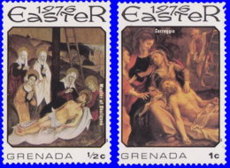 Grenade 1976. ~ YT 660/61** - Pâues. Tableaux - Grenada (1974-...)