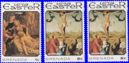 Grenade 1976. ~ YT 660/62** - Pâques. Tableaux - Grenada (1974-...)