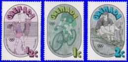 Grenade 1976. ~ YT 689/91** - J.O. Montréal - Grenada (1974-...)