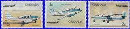 Grenade 1976. ~ YT 696/98** - Aviation Tourisme Et Transports - Grenada (1974-...)