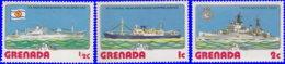 Grenade 1976. ~ YT 709/11** - Navires - Grenada (1974-...)
