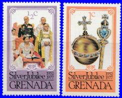 Grenade 1976. ~ YT 730/31** - 25 Ans Accession Trône Elizabeth II - Grenada (1974-...)