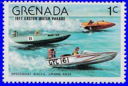 Grenade 1976. ~ YT 736** - Course Canot Automobile - Grenada (1974-...)