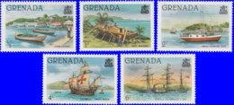 Grenade 1980. ~ YT 931/36** - Bateaux - Grenada (1974-...)