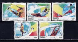 CONGO - 966/970° - COUPE DU MONDE DE FOOTBALL - Oblitérés