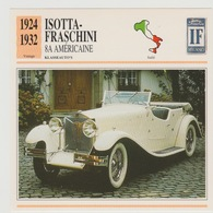 Verzamelkaarten Collectie Atlas: Isotta-fraschini 8A Américaine - Voitures